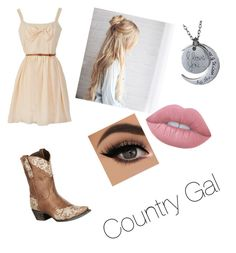 """""""Country Gal"""" by enowack ❤ liked on Polyvore featuring Lane, Lime Crime and country"""
