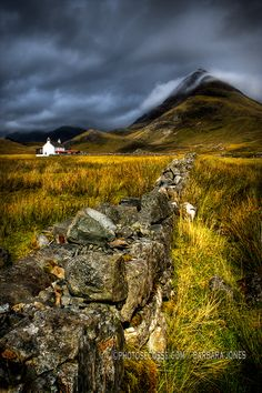 Photograph Camasunary Cottage and Blaven. Isle of Skye. Scotland. by Barbara Jones on 500px