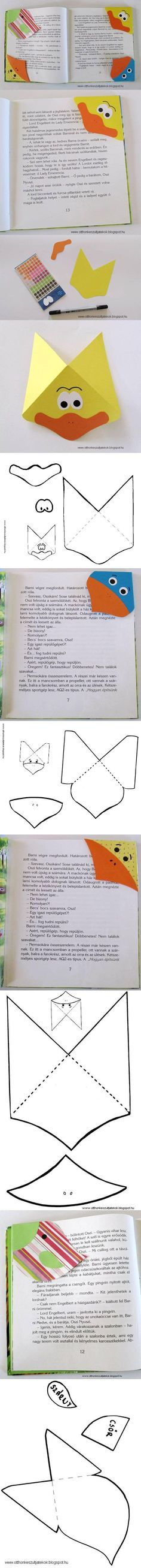 FREE printable bookmark template for kids Felt Crafts, Diy And Crafts, Arts And Crafts, Paper Crafts, Diy Bookmarks, Corner Bookmarks, Diy For Kids, Crafts For Kids, Origami
