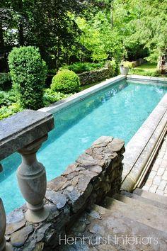 gorgeous pool coping Henhurst Interiors: An Antiquarian's Garden