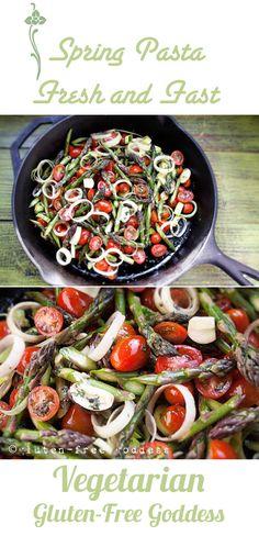 Gluten-Free Goddess® Recipes: Karina's Sexy Spring Pasta with roasted asparagus ...