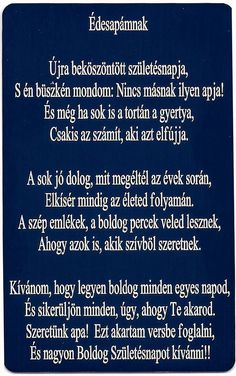Apának lenni is a legszebb érzés.....Fiam egyszer ezt mondta, hogy : Apa én n em cserélnélek le senkiért :-) Sad Quotes, Motivational Quotes, Life Quotes, Inspirational Quotes, Interesting Quotes, Holidays And Events, Mom And Dad, Birthday Wishes, Fathers Day Gifts
