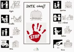 Tecken som stöd: Inte okej Sign Language Phrases, Baby Sign Language, Preschool Library, Preschool Math, Kindergarten, Kids Barn, Learn Swedish, Swedish Language, Learn English Grammar