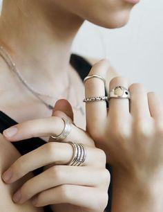 Layered Silver Rings <3 L.O.V.E.