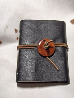Handmade Leather Journal great idea for samples