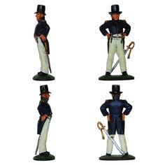 """Teniente de la Marina francesa - 1804-1815 (Colección """"Soldados de las Guerras Napoleónicas"""" editada por delPrado - 60 mm)"""