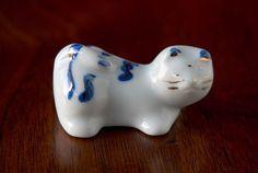 Japanese hashioki, hand painted ceramic.