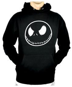 Negative Jack Skellington Pullover Hoodie Sweatshirt Nightmare Before Christmas