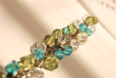 Pretty Bracelet Turquoise Clear And Green by PoppiLinnStudios, $17.00