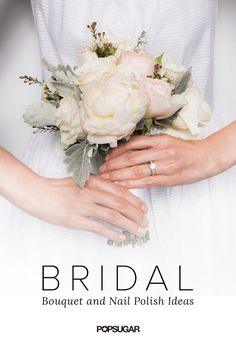 Pin for Later: 10 Stunning Bridal Nail Colors and Whimsical Bouquet Ideas Not-Boring Nude Crowns by Christy bouquet featuring peonies, garden roses, dusty miller, and wax flowers Wedding Prep, Plan Your Wedding, Wedding Day, Wedding Planning, Dream Wedding, Wedding Rings Rose Gold, Rose Gold Engagement Ring, Gold Ring, Gold Wedding