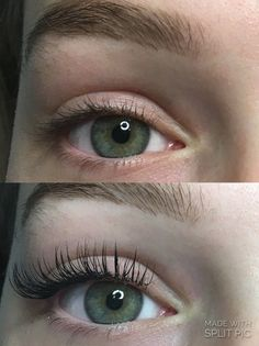 Therapy Rom 55 Eyelash Extensions Before and After
