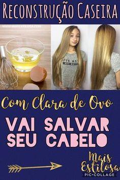 Reconstrução Caseira com Clara de Ovo: Vai Salvar o Seu Cabelo