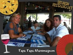 Roma's famili at Spanish Restaurant Tapa Tapa. Framed by Blai Marginedas