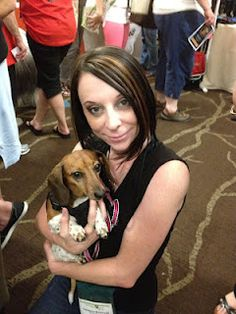 Here is @AutumntheDoxie at #BlogPaws. Follow my @BlogPaws boards on #Pinterest