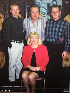 Sharon Rolen Hurst Aunt Elsie daughter and her husband and two sons.