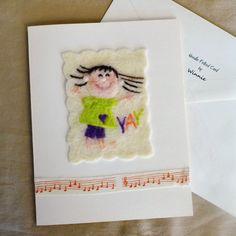 Nadel Filz Card  Yay von FunFeltByWinnie auf Etsy