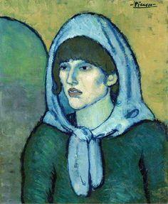 🌎 Portrait of Germaine / Pablo Picasso / 1902 ( Pablo Picasso, Art Picasso, Picasso Portraits, Picasso Paintings, Henri Rousseau, Henri Matisse, Dora Maar, Georges Braque, Spanish Painters
