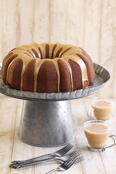 Sprinkle Bakes: Gingerbread Bundt Cake with Coffee Glaze