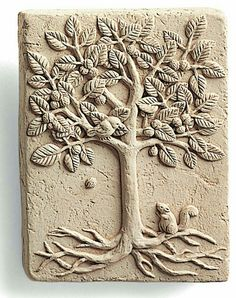 Details about walnut tree happy squirrel cast cement 4 mini wall plaque nature garden Hand Built Pottery, Slab Pottery, Ceramic Pottery, Pottery Art, Pottery Bowls, Ceramic Tile Art, Clay Tiles, Clay Wall Art, Clay Art