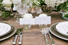 Simple White Place Cards