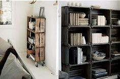 transformar una estanteria - Buscar con Google Pallet Designs, Pallet Shelves, Wood Crates, Diy Recycle, My Room, Bookcase, Bedroom Decor, House Design, Furniture