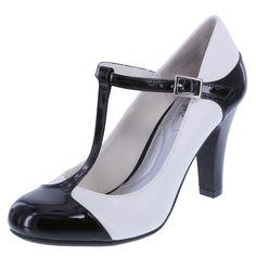 362ab408154939 Vintage Inspired Shoes Womens Kathleen T-Strap Pump $34.99 AT  vintagedancer.com Wedge Sneakers
