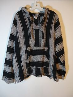 Hey, I found this really awesome Etsy listing at https://www.etsy.com/listing/209493966/true-vintage-striped-mexican-baja-hoodie
