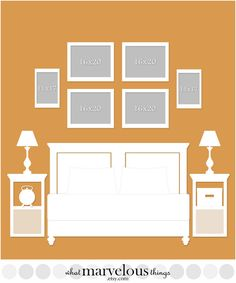 Bedroom Wall Display Template