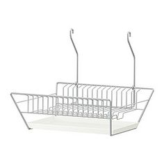 BYGEL, Dish drainer, silver color