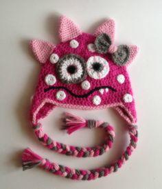 Pink monster hat