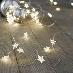 The White Company | Star Fairy Lights. Make the most of decorating this year and add some extra sparkle to your home with these battery-operated Star Fairy Lights. Pinning from the UK? -> http://www.thewhitecompany.com/Star-Fairy-Lights--30-bulbs/p/FLHNS?swatch=Clear