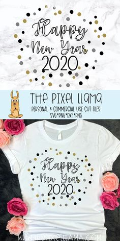 Happy New Year 2020 SVG example image 2 New Years Cookies, New Years Shirts, Funny New Year, Winter Clipart, New Years Outfit, Funny Outfits, Happy New Year 2020, Vinyl Shirts, New Years Party