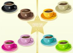 Lovely cups in lovely colors