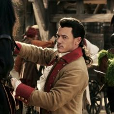 """No thanks, Bimbettes!"" Such sass in that look. Luke Evans as Gaston"