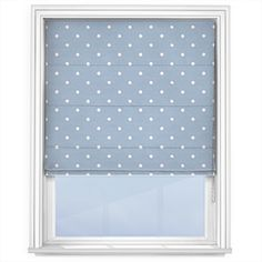 Touched by Design Dots Blue. #igdtrends #pantone #serenity #trend #interior #romanblinds #style