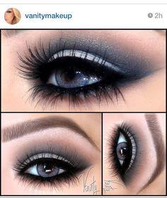 Eye Makeup Tips.Smokey Eye Makeup Tips - For a Catchy and Impressive Look Blue Eye Makeup, Smokey Eye Makeup, Love Makeup, Skin Makeup, Eyeshadow Makeup, Simple Eyeshadow, Yellow Eyeshadow, Awesome Makeup, Glitter Eyeshadow