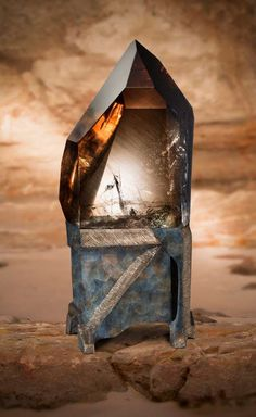 Gemstone Photography Series (Smoky quartz from Madagascar) - like a painting.emerges out of the haze as mirages on mirages of the desert plains.