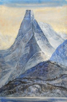 Untitled, Mountain Scenery by Karl-Erik Harr Painting Collage, Paintings, Landscape Art, Scenery, Sculptures, Artists, Contemporary, Landscapes, Mountain