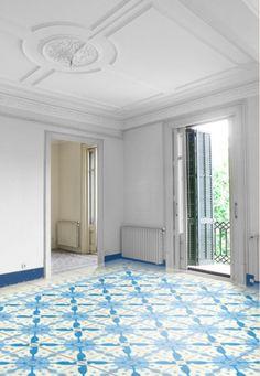 m² Hydraulic tiles by Bussoga - batedroes http://decoracionconreformas.es/vuelven-los-baldosas-hidraulicas/