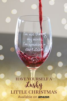 Funny & sassy wine glasses from Lushy Wino | Available on Amazon
