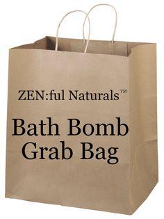 Bath Bomb Grab Bag Half Dozen Bath Bombs Gift by ZENfulNaturals, $19.95 #bathbombs #grabbags #giftideas