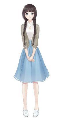 Anime Girl Dress, Manga Girl, Anime Art Girl, Anime Outfits, Girl Outfits, Black Butler Meme, Cartoon Profile Pics, Pretty Anime Girl, Anime Girl Drawings