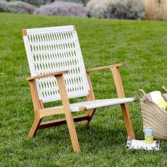 Catskill Wood + Wicker Chair - Oyster