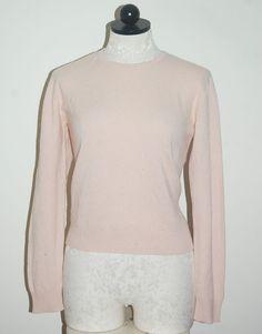 J CREW  Scotland Spun 100% Cashmere Pink Crewneck Sweater M #JCREW #Crewneck