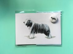 A personal favourite from my Etsy shop https://www.etsy.com/uk/listing/592939173/bearded-collie-limited-edition-card-and