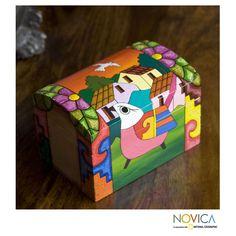 Novica Handmade Pinewood 'El Salvador Dawn' Box (El Salvador) (Solid), Multi