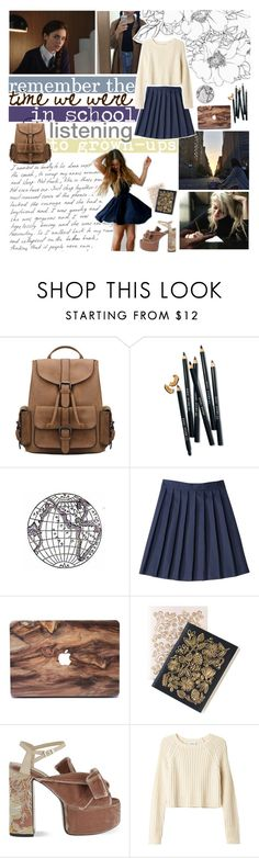 """✿ remember the time we were in school, listening to grown-ups"" by falloutjadyn ❤ liked on Polyvore featuring Bobbi Brown Cosmetics, French Toast, Dot & Bo, N°21 and Monki"