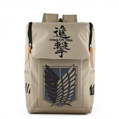 "Attack on Titan Backpack Anime School Bag 17"""