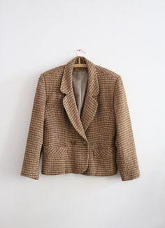 Kaufe meinen Artikel bei #Kleiderkreisel http://www.kleiderkreisel.de/damenmode/blazer-blazer/114102192-brauner-blazer-vintage-jackette-tweed-jacke