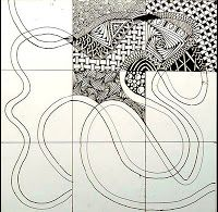 Xplore & Xpress: The Zentangle Inspired Art Project -1. I love the idea of using a stylized ribbon as a string.